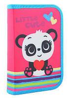 Пенал твёрдый одинарный с  клапаном  Yes Panda 531689