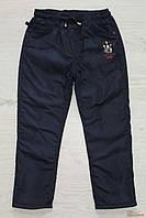 Штаны утеплённые для мальчика из плащевки (128 см)  A-yugi 2129000432784