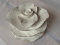 Декоративная роза/ роза-подсвечник, 17*10 см