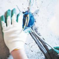 Вирізка отвори і установка распредкоробки (бетон)