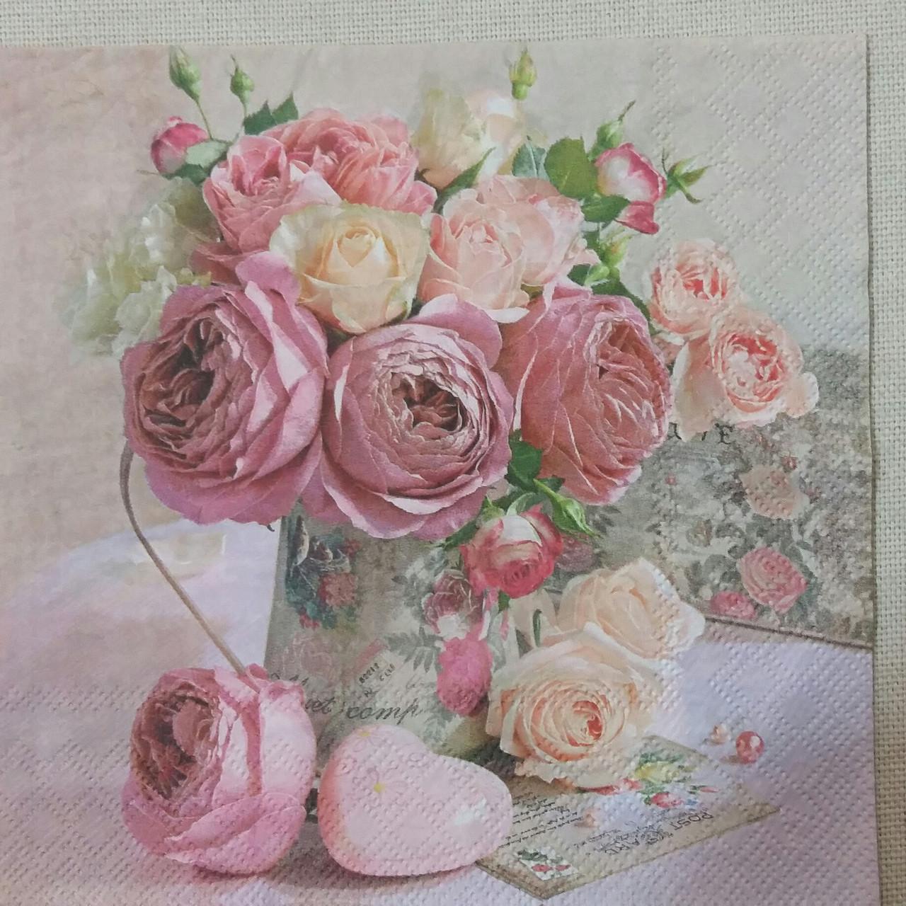 Салфетки для декупажа розы фото