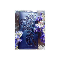 Кожаный кошелек Turtle вестерн XL, Ласточки в цветах вишни, синий