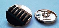 750101 Пуговица на ножке металл 25 мм (золото с черным)