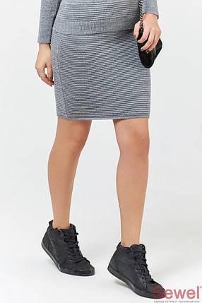 Теплая вязаная юбка выше колен, фото 2