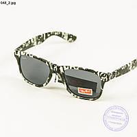Солнцезащитные очки Ray-Ban Wayfarer унисекс со стеклянной линзой и оправой  хаки - 048 cfe1de511f8c2