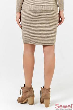 Теплая вязаная юбка карандаш, фото 2