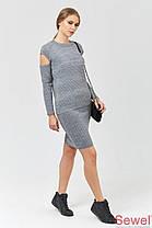 Теплая вязаная юбка выше колен, фото 3