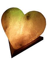 Соляна лампа «Серце» 4-5 кг кольорова лампа