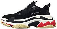Женские кроссовки Balenciaga Triple S Баленсиага черные