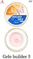 Гель-желе F.O.X № 3 кремово-розовый нежный (Gele Builder Gel № 2) 50мл