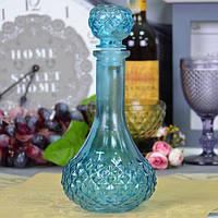 """Графин стеклянный для напитков """"Дежавю"""" VB32, размер - 24х12 см, графин для напитков, кухонный графин"""