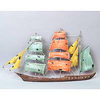 "Декор для дома настенный ""Корабль"" HX7002, металл, 38х67 см, статуэтка для декора, декорирование дома, фигурка, сувенир"