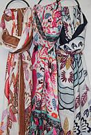 """Шарф-палантин женский с абстрактным принтом размер 90*180см (3цвета) """"AURA"""" купить оптом в Одессе на 7км, фото 1"""