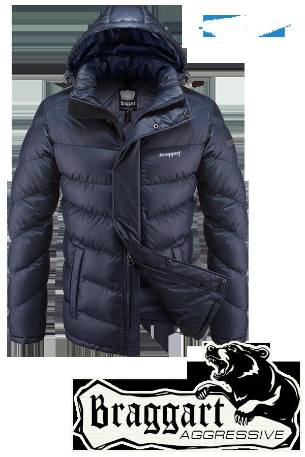 Мужская темно-синяя куртка Braggart Aggressive (р. 46-56) арт. 4382