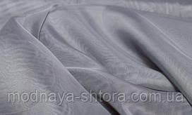 Шифон (вуаль) однотонный серый холодный