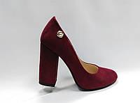 Замшевые туфли на каблуке .Маленькие ( 33 - 35 ) размеры., фото 1