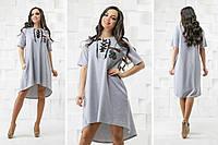 """Платье ассиметричное """"Пчелка"""", платье со шнуровкой, ткань двух нить, разные размеры и цвета., фото 1"""