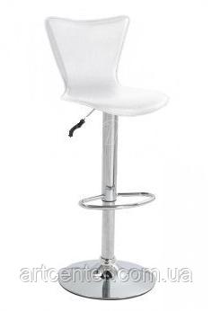 Стул визажный, барный стул белый, стул для администратора (САРА белый)