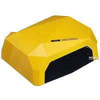 Уф LED+CCFL Лампа гибридная, 36 Вт,сенсорная с таймером 10, 30 и 60 сек Желтая