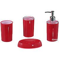 Набор для ванной STENSON Глянец 4 предмета Акрил (12210) Красный