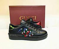 Кеды черные Gucci