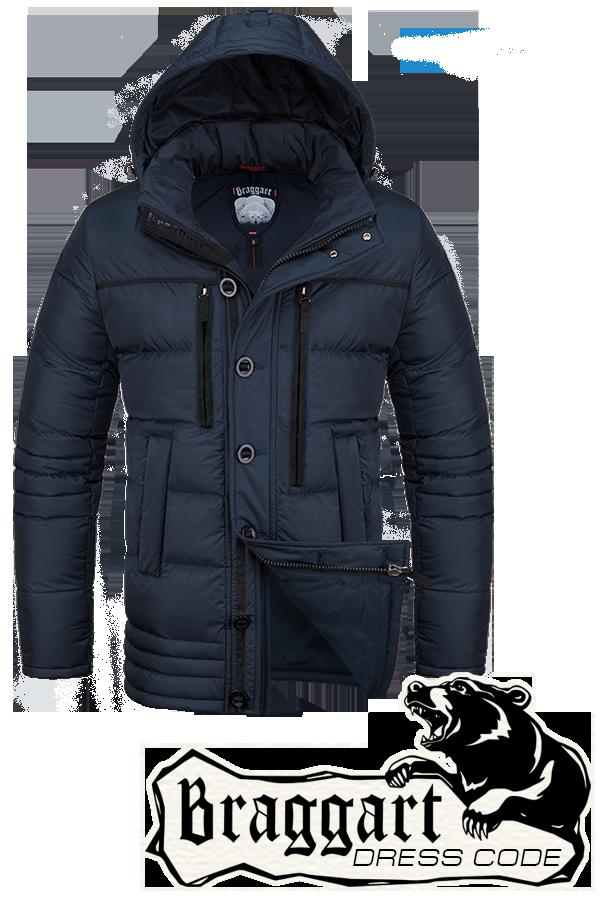 Мужская темно-синяя зимняя куртка Braggart арт. 2919