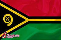 Флажок Вануату 13,5*25 см., плотный атлас