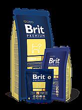 Корм Brit Premium (Брит Преміум) Dog Junior M для цуценят і молодих собак середніх порід, 15 кг
