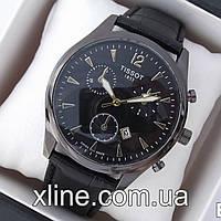 Мужские наручные часы Tissot B147 на кожаном ремешке