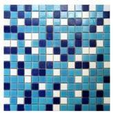 Мозаика китайская стеклянная глянец  Багама темная микс для бассейна