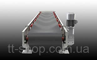 Ленточный желобчатый конвейер длинной 1 м, ширина ленты 400 мм