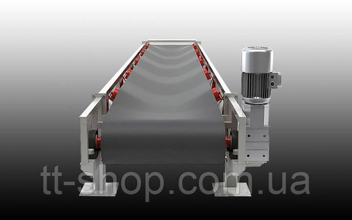 Ленточный желобчатый конвейер длинной 9 м, ширина ленты 400 мм, фото 2
