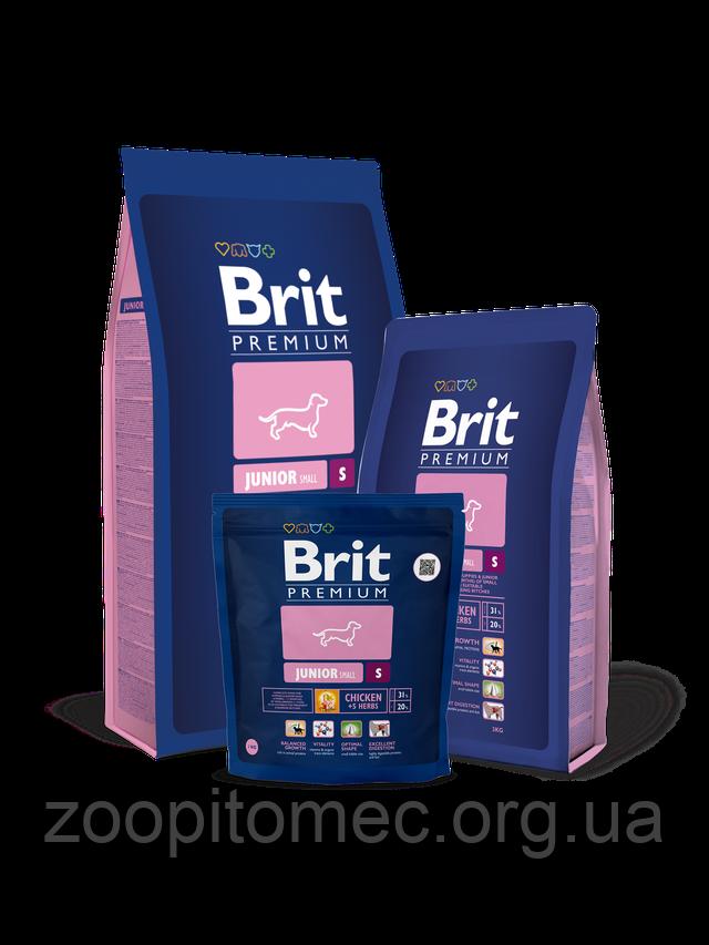 Корм Brit Premium Брит Премиум Dog Junior S корм для щенков и молодых собак мелких пород