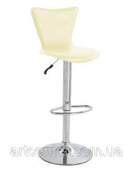 Стул для визажиста, бежевый стул для бара, стул для администратора, стул для кассира, хокер (САРА бежевый)
