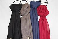 """Шарф-палантин женский с вышивкой размер 90*180см (4 цвета) """"AURA"""" купить оптом в Одессе на 7 км"""
