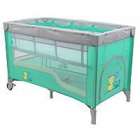 Копия Манеж-кровать Baby Mix HR-8052-2 /2-уровневый