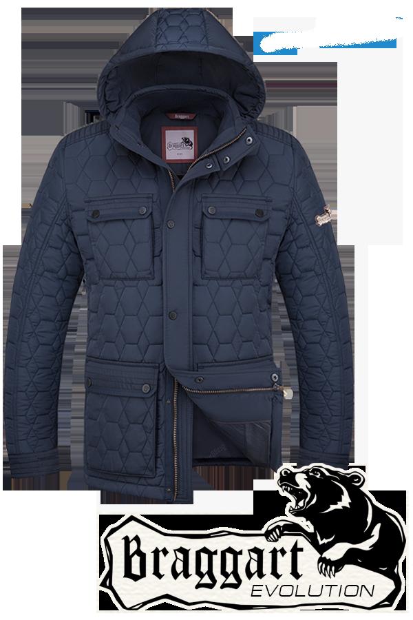 Мужская синяя зимняя куртка Braggart (р. 48-56) арт. 2576