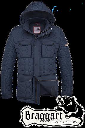 Мужская синяя зимняя куртка Braggart (р. 48-56) арт. 2576, фото 2