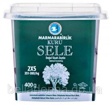 Оливки чорні (маслини) в'ялені з кісточкою 400 г Marmarabirlik Kuru Sele 2XS (Туреччина)