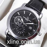 Мужские наручные часы Vacheron Constantin 6717 на кожаном ремешке