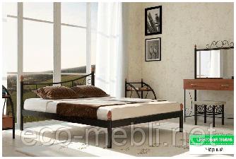 Півтораспальне ліжко Каліпсо Метал Дизайн