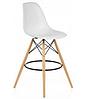 Стул для визажиста, стул для бара, стул для администратора, стул для кассира (Тауэр Вуд белый), фото 3