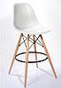 Стул для визажиста, стул для бара, стул для администратора, стул для кассира (Тауэр Вуд белый), фото 2
