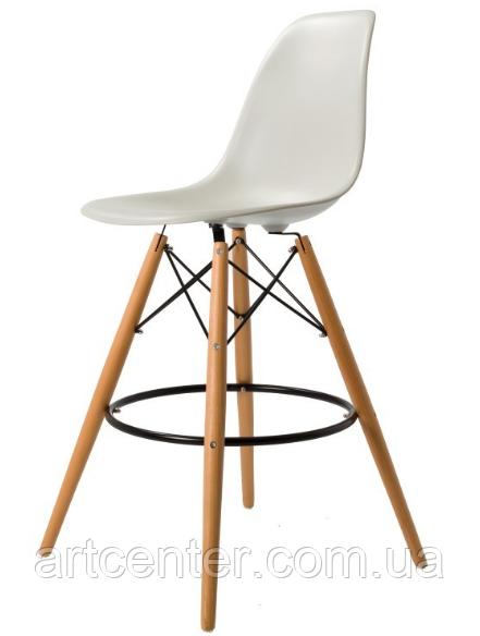 Стул для визажиста, стул для бара, стул для администратора, стул для кассира (Тауэр Вуд белый)