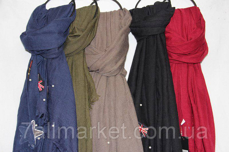 25a6300bdf4e8 Шарф-палантин женский с вышивкой размер 90*180см (5 цветов)