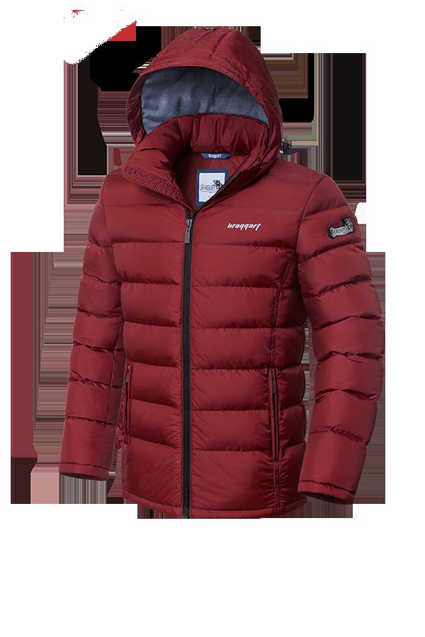 Мужская стильная красная зимняя куртка (р. 46-56) арт. 1995