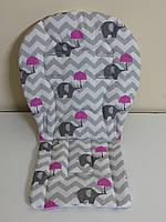 Вкладыш слоны с розовыми зонтиками
