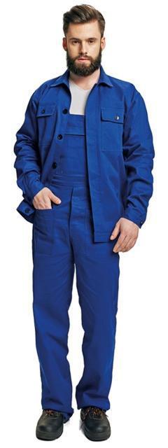Костюм (полукомбинезон с курткой) рабочий RALF Хлопок 100% синий