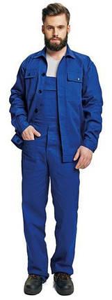 Костюм (полукомбинезон с курткой) рабочий RALF Хлопок 100% синий, фото 2