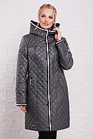 Женское демисезонное пальто больших размеров (50-52-54-56-58-60)